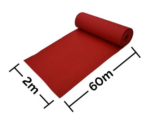 Rollos de moqueta ferial para eventos con medidas 2x60m