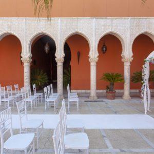 Moqueta blanca para eventos y congresos