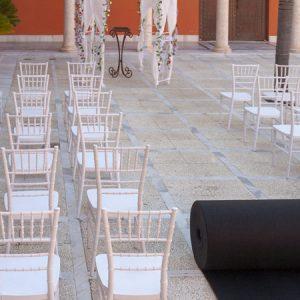 Moqueta negra para eventos y congresos