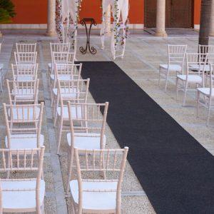 Moqueta antracita para eventos y congresos