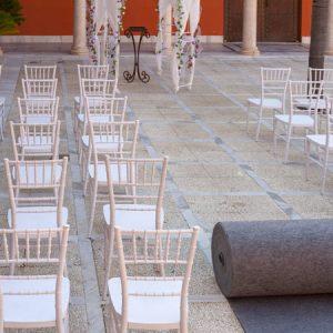 Moqueta gris chennel para eventos y congresos