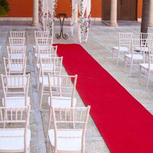Moqueta roja para eventos y congresos