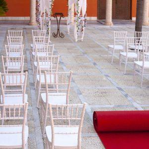 Moqueta rojo melier para eventos y congresos