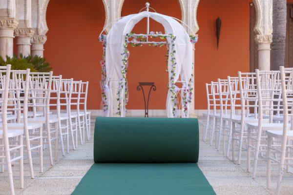 Moqueta verde abeto para eventos y congresos