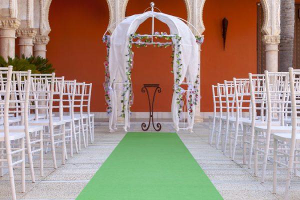 Moqueta verde green para eventos y congresos