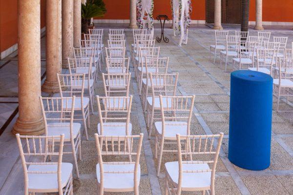 Moqueta azul ducados para eventos y congresos