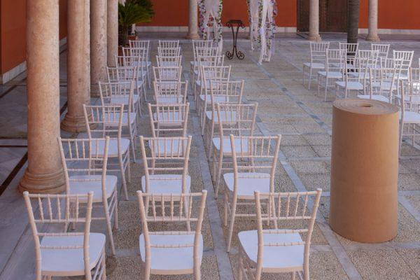 Moqueta beige para eventos y congresos