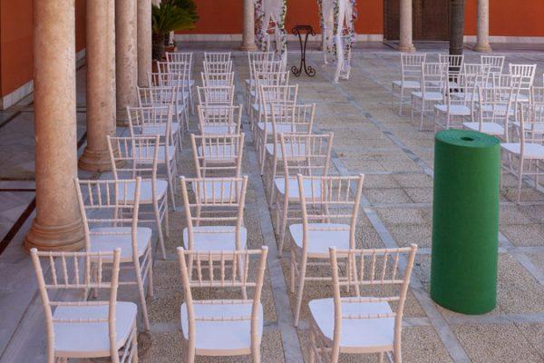 Moqueta verde billar para eventos y congresos